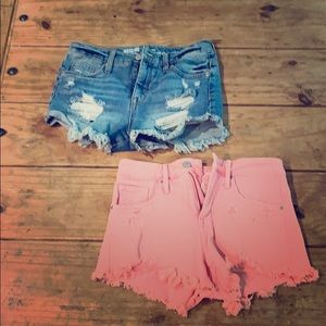2 Pairs Mossimo High Rise Denim Shorts Cutoffs 4
